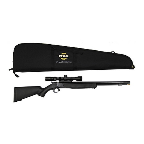 CVA CVA Wolf .50 Caliber Muzzleloader Compact, Blued Camo, Includes Konus Shot 3-9x32mm Scope PR2610SC