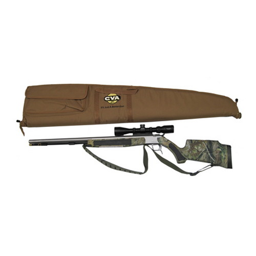 CVA Accura V2 .50 Caliber Muzzleloader Stainless Steel Realtree APG w/Konus Pro 3-9x40 Illuminated Reticle Scope