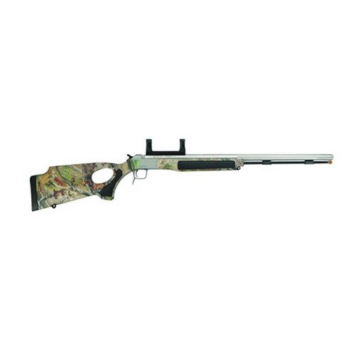 CVA Accura V2 .50 Caliber Muzzleloader Thumbhole Stock Stainless Steel/Realtree APG HD Camo, Includes Scope Mount