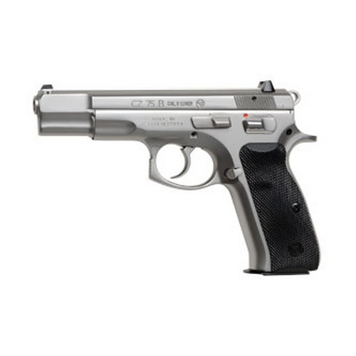 CZ USA Pistol CZ USA 75B 9mm Luger Luger, High Polish Stainless, 10 Round 01108