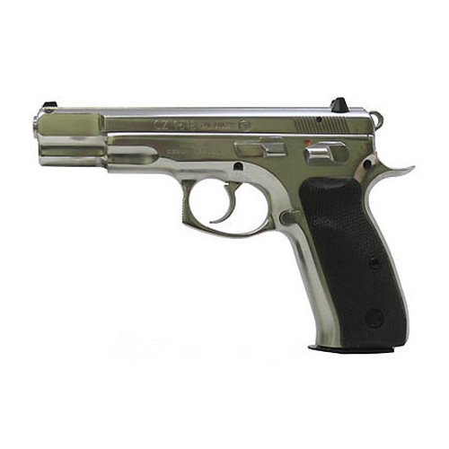 CZ USA CZ 75B 9mm Luger, Stainless Steel (Hi-Polish), 16 Round