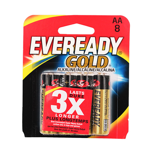 Energizer Energizer Eveready AA Batteries Per 8 A91BP-8