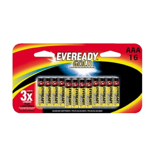 Energizer Energizer Eveready Gold AAA Batteries Per 16 A92BP-16H
