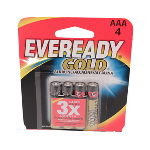 Energizer Energizer Eveready Gold AAA Batteries Per 4 A92BP-4