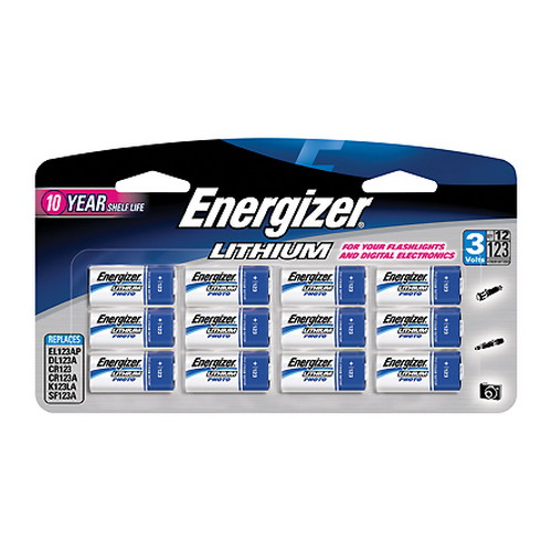 Energizer 123 Lithium Batteries 12-Pack