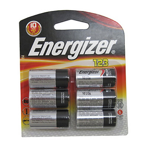 Energizer Energizer 123 Lithium Batteries 6-Pack EL123BP-6
