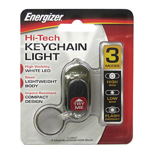 Energizer Energizer LED High Tech Keychain Light HTKC2BUBP