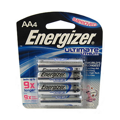 Energizer Energizer Ultimate Lithium Batteries AA (Per 4) L91BP-4