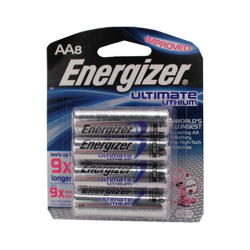 Energizer Ultimate Lithium Batteries AA (Per 8)