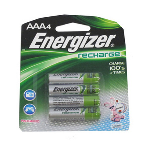 Energizer Energizer Rechargeable Batteries NiMH AAA (Per 4) NH12BP-4