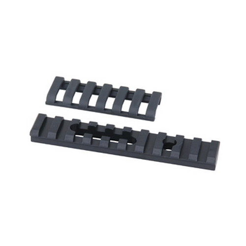 Ergo Ergo Aluminum UMP Rail 10 Slot w/ERGO Covers, 1 Hole/1 Slot, Black 4754