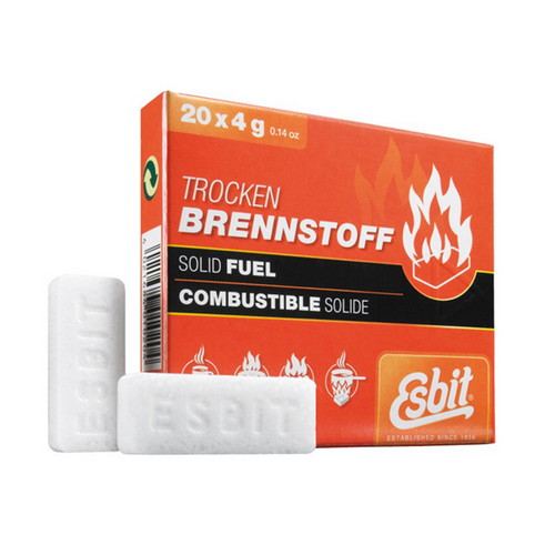 Esbit Solid Fuel 20 Piece, 4g