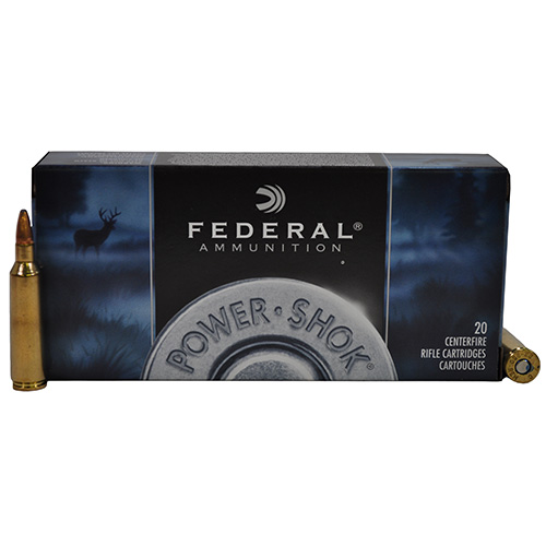 Federal Cartridge Federal Cartridge 22-250 Remington 22-250 Remington Premium 55gr Power Shok Soft Point (Per 20) 22250A