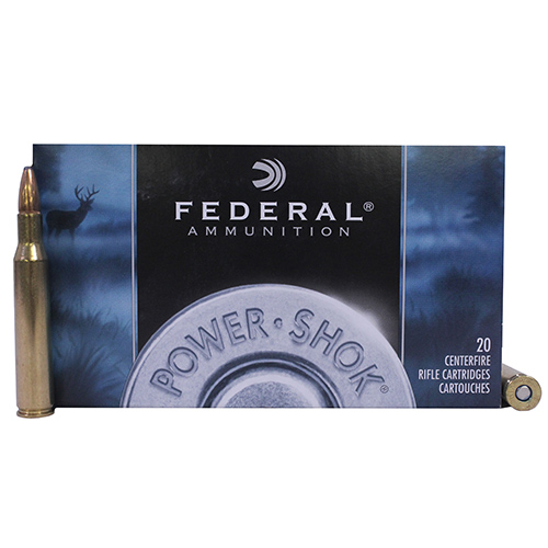 Federal Cartridge 270 Winchester 270 Win, 130grain,  Power Shok Soft Point,  (Per 20)