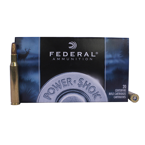 Federal Cartridge Federal Cartridge 270 Winchester 150 grain Power Shok Soft Point Round Nose (Per 20) 270B Ammo