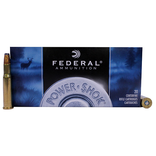 Federal Cartridge Federal Cartridge 30-30 Winchester 30-30 Win, 125gr, Jacketed Hollow Point Power Shok, (Per 20) 3030C