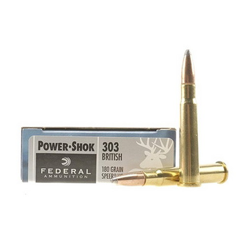 Federal Cartridge Federal Cartridge 303 British 303 British, 180gr, Speer Hot-Cor Soft Point, (Per 20) 303AS