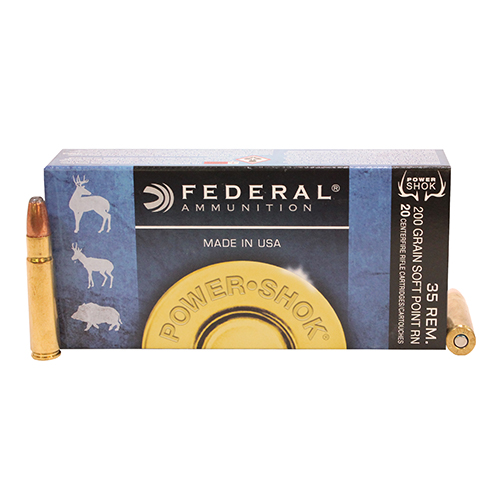 Federal Cartridge Federal Cartridge 35 Remington , 200 Grain, Power Shok SP,(Per 20) 35A