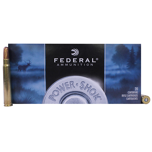 Federal Cartridge 375 Holland & Holland Magnum 375 H&H Mag, 270gr, Power Shok Soft Point, (Per 20)