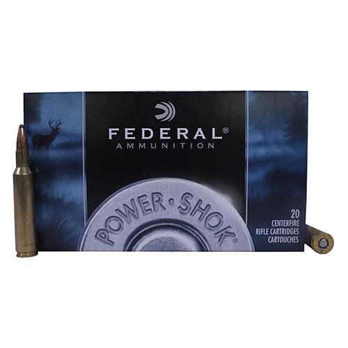 Federal Cartridge 6mm Remington 6mm Remington, 100gr, Power Shok Soft Point, (Per 20)