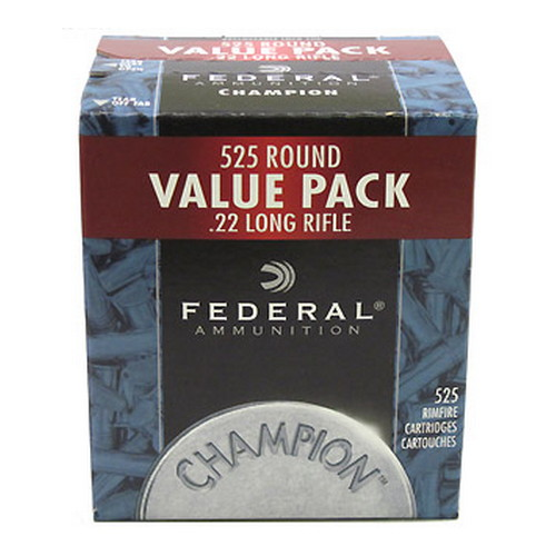 Federal Cartridge Federal Cartridge 22 Long Rifle 36gr High Velocity Champion Copper Plated HP Bulk/525 745