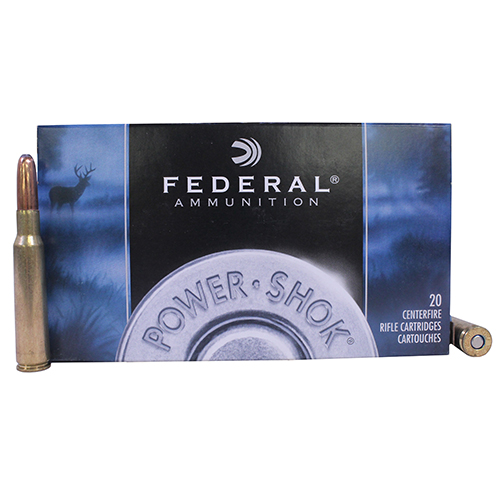 Federal Cartridge Federal Cartridge 7mm Mauser 7mm Mauser, 175gr, Power Shok Soft Point Round Nose, (Per 20) 7A
