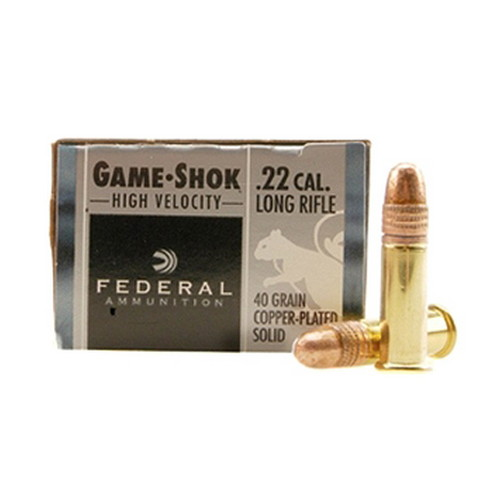 Federal Cartridge Federal Cartridge 22 Long Rifle 22 Long Rifle, 40gr High Velocity Copper Plated (Per 100) 810