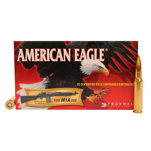 Federal Cartridge Federal Cartridge American Eagle 7.62x51 M1A 168gr OTM (Per 20) A76251M1A