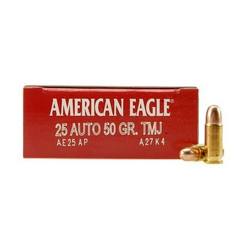 Federal Cartridge 25 Automatic , 50 Grain, FMJ, (Per 50)