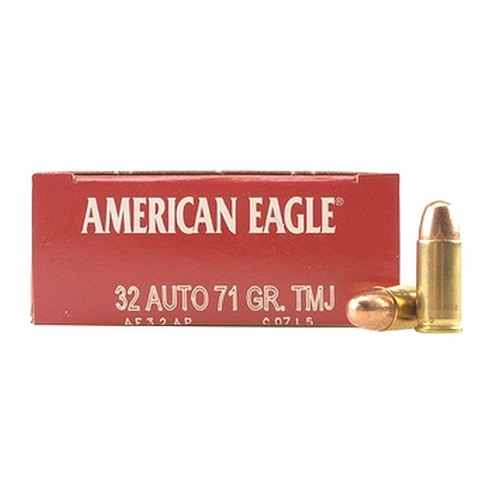 Federal Cartridge 32 Automatic 32 Automatic, 71 Gr, FMJ, (Per 50)