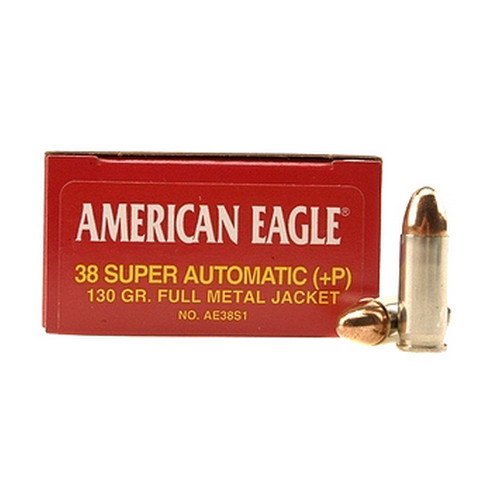 Federal Cartridge Federal Cartridge 38 Super Automatic + Parabellum , 130 gr, FMJ, (Per 50) AE38S1