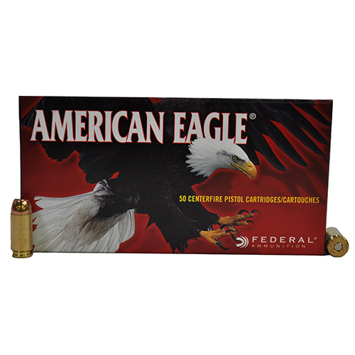 Federal Cartridge Federal Cartridge 40 Smith & Wesson 40 S&W, 180gr, Full Metal Jacket, (Per 50) AE40R1