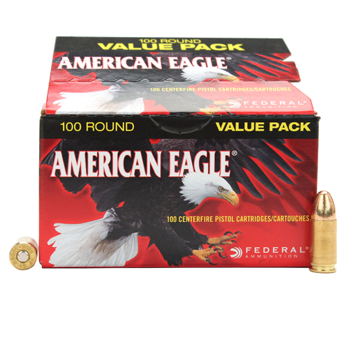 Federal Cartridge Federal Cartridge 9mm Luger 115 Gr, FMJ (Per 100) AE9DP100