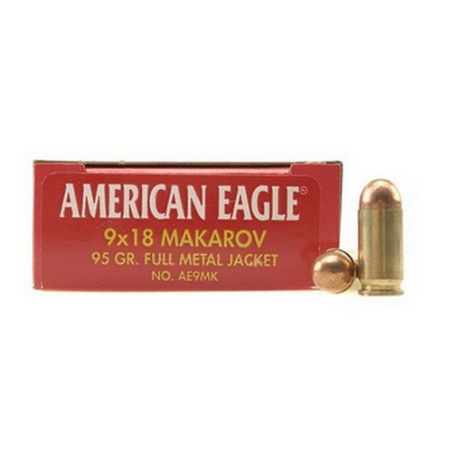 Federal Cartridge Federal Cartridge 9mm Makarov , 90 Grain, FMJ, (Per 50) AE9MK