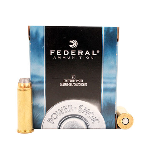 Federal Cartridge Federal Cartridge 44 Remington Magnum 44 Rem Mag, 240gr, HiShok Jacketed Hollow Point, (Per 20) C44A