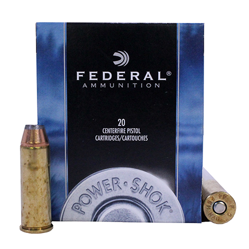Federal Cartridge Federal Cartridge 44 Remington Magnum 44 Rem Mag, 180gr, HiShok Jacketed Hollow Point, (Per 20) C44B
