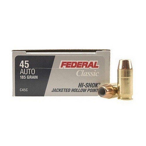 Federal Cartridge 45 Automatic 45 Auto, 185gr, Power Shok Jacketed Hollow Point, (Per 20) C45C