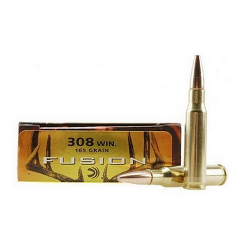 Federal Cartridge Fusion 308 Winchester 165 Grain BTSP (Per 20) 308 Win, 165gr, Fusion, (Per 20)