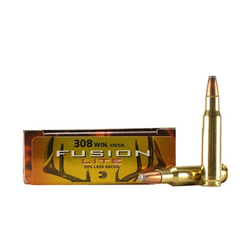 Federal Cartridge Federal Cartridge 308 Winchester 308 Win, 170gr Soft Point Lite Fusion (Per 20) F308FSLR1