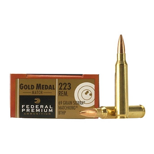Federal Cartridge Federal Gold Medal 223 Remington 69 Grain Sierra MatchKing, BTHP (Per 20) GM223M