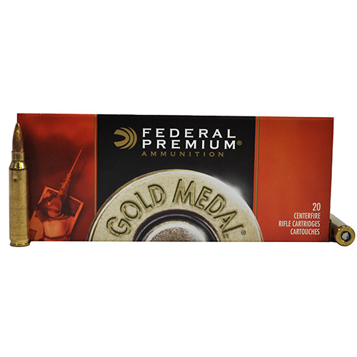 Federal Cartridge 223 Remington 223 Remington Gold Medal Match 77gr Sierra MatchKing, BTHP (Per 20)