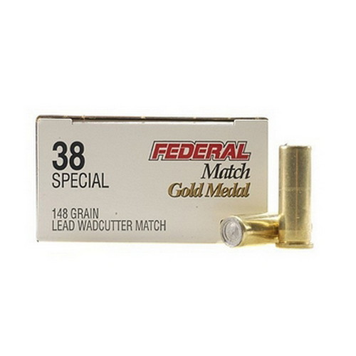 Federal Cartridge Federal Cartridge 38 Special 38 Special, 148gr, Lead Wadcutter Match, (Per 50) GM38A