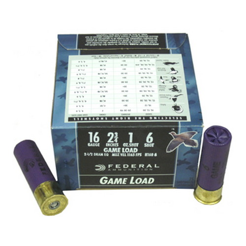 Federal Cartridge 16 Gauge Shotshells 16 Gauge Game Load 2 3/4
