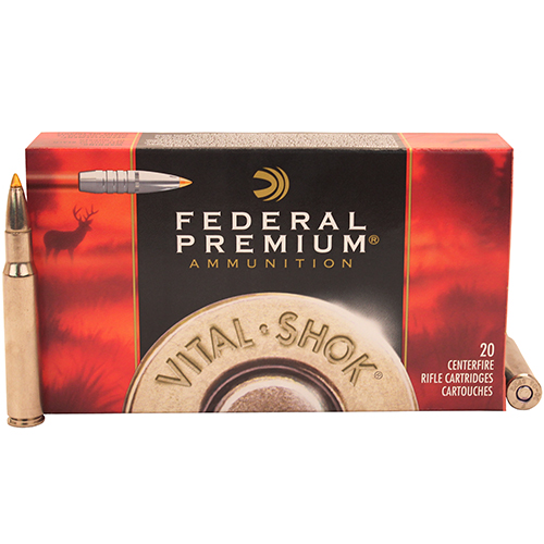 Federal Cartridge Federal Cartridge 30-06 Springfield 30-06 Springfield, Premium, 180grain, Trophy Bond Tip, V-Shock, (Per 20) P3006TT1