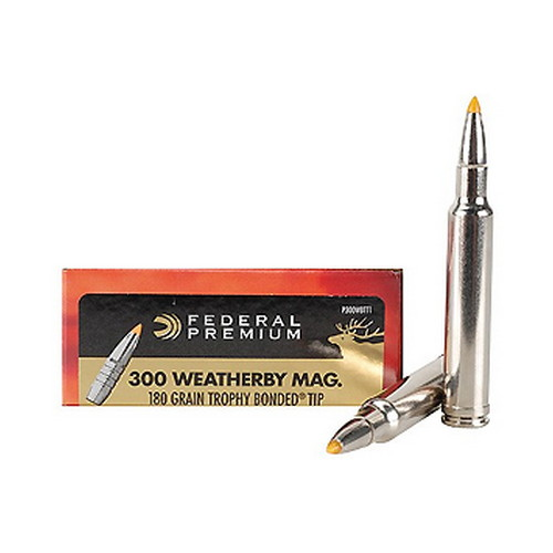 Federal Cartridge Federal Cartridge 300 Weatherby Magnum, 180 Grain, TB V-Shok (Per 20) P300WBTT1