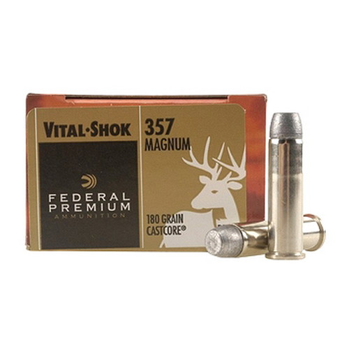 Federal Cartridge Federal Cartridge 357 Magnum 357 Mag, 180gr, Cast Core, (Per 20) P357J