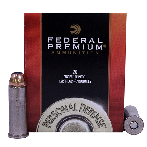 Federal Cartridge Federal Cartridge 44 Remington Magnum 44 Mag, 240gr, Hydra-Shok Jacketed Hollow Point, (Per 20) P44HS1