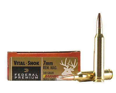 Federal Cartridge Federal Cartridge 7mm Remington Magnum 7mm Rem Mag 140gr Barnes Triple Shok X Bullet (Per 20) P7RM