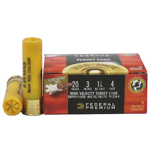 Federal Cartridge Federal Cartridge 20 Gauge Shotshells by Federal MagShok w/Flight Control, 3