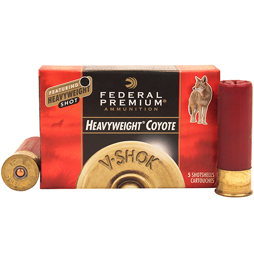 Federal Cartridge 12 Gauge Shotshells VitalShok Heavy Weight, Varmint, 3